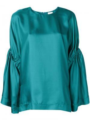 Блузка свободного кроя Alysi. Цвет: зеленый