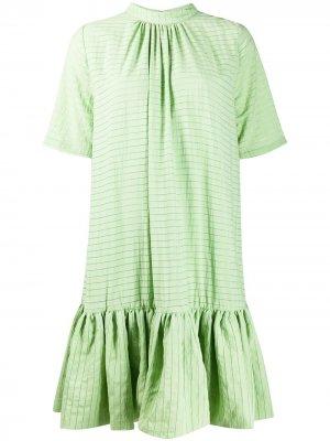 Расклешенное платье-трапеция Stine Goya. Цвет: зеленый