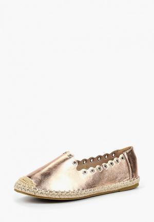Эспадрильи WS Shoes. Цвет: золотой