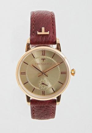Часы Trussardi. Цвет: бордовый