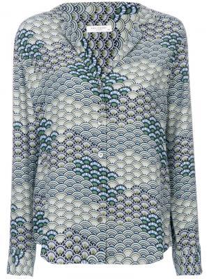 Рубашка с волнистым принтом Equipment. Цвет: синий