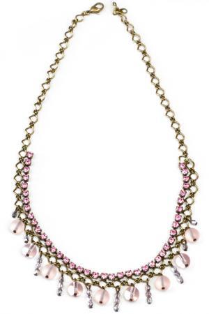 Колье, серьги Bohemia Style. Цвет: розовый