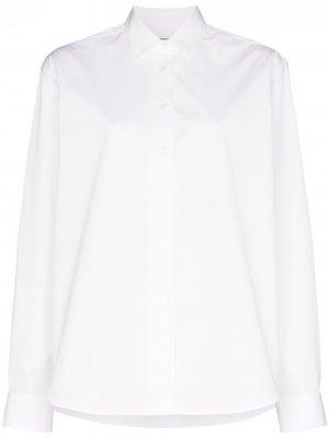 Рубашка с логотипом Totême. Цвет: белый