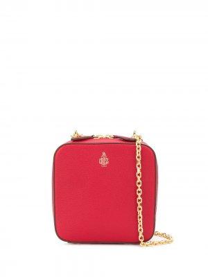 Каркасная сумка Mark Cross. Цвет: красный