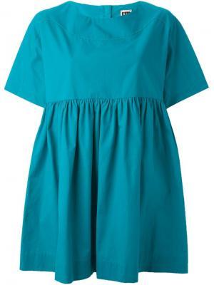 IM Isola Marras свободная блузка с плиссировкой I'M. Цвет: синий