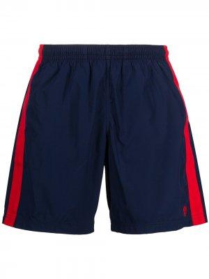 Плавки-шорты с лампасами Alexander McQueen. Цвет: синий