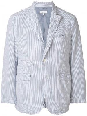 Пиджак в полоску Engineered Garments. Цвет: синий