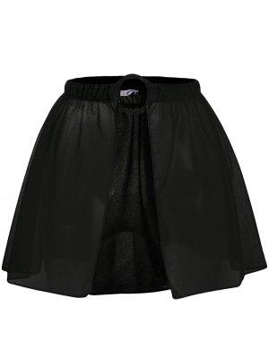Пляжная юбка с круглой пряжкой Oséree. Цвет: черный