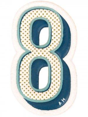 Стикер Eight Anya Hindmarch. Цвет: серый
