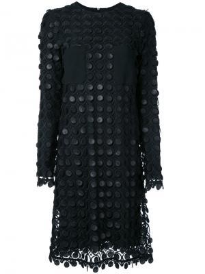 Кружевное многослойное платье Carven. Цвет: черный