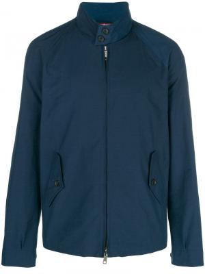 Mock neck zip front jacket Engineered Garments. Цвет: синий
