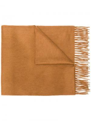Fringed edge scarf Begg & Co. Цвет: коричневый