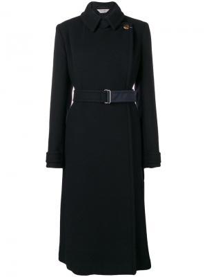 Пальто с поясом Sportmax. Цвет: черный