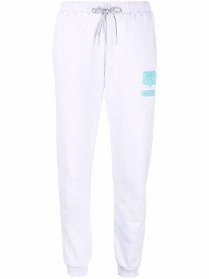 Спортивные брюки с нашивкой-логотипом Chiara Ferragni. Цвет: белый