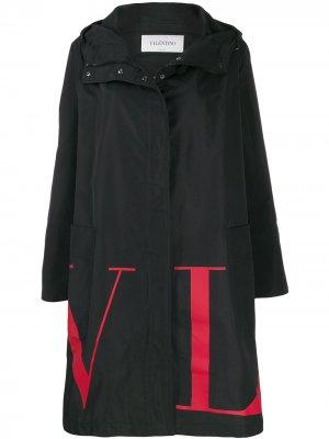 Парка с логотипом VLTN Valentino. Цвет: черный