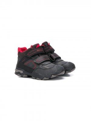 Ботинки с ремешками на липучках Geox Kids. Цвет: черный