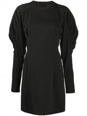 Платье с пышными рукавами Rag & Bone. Цвет: черный