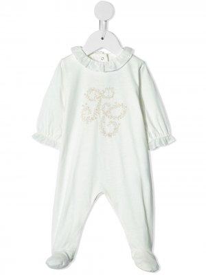 Комбинезон для новорожденного с вышивкой Tartine Et Chocolat. Цвет: белый