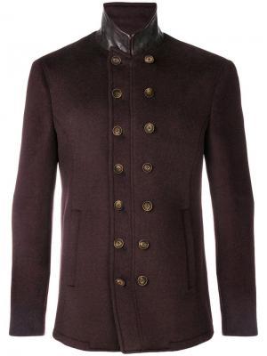 Куртка в стиле милитари John Varvatos. Цвет: красный