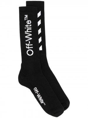 Носки с логотипом Off-White. Цвет: черный