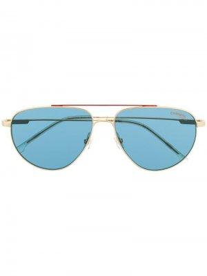 Солнцезащитные очки-авиаторы Carrera. Цвет: золотистый