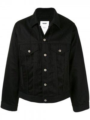 Джинсовая куртка узкого кроя Doublet. Цвет: черный