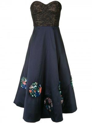 Расклешенное платье миди Kristiana Sachin & Babi. Цвет: синий