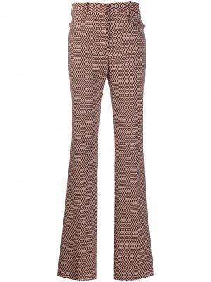 Расклешенные брюки с геометричным принтом Victoria Beckham. Цвет: красный