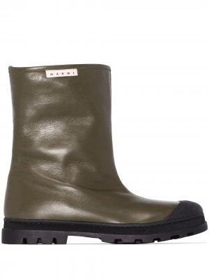 Ботинки без застежки Marni. Цвет: зеленый