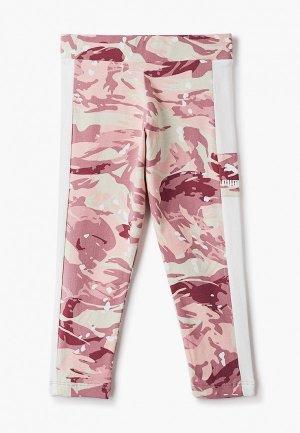 Леггинсы PUMA. Цвет: розовый