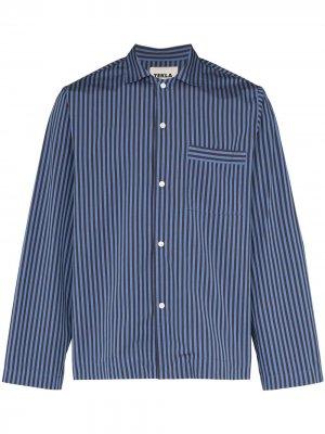 Пижамная рубашка TEKLA. Цвет: синий
