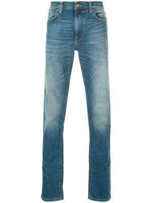 Джинсы прямого кроя Lean Dean Nudie Jeans Co. Цвет: синий