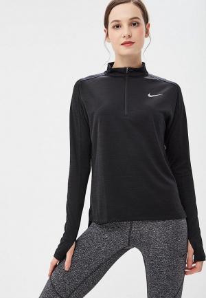 Лонгслив спортивный Nike. Цвет: черный
