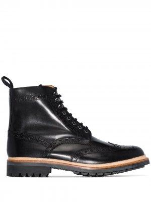 Ботинки Fred на шнуровке Grenson. Цвет: черный