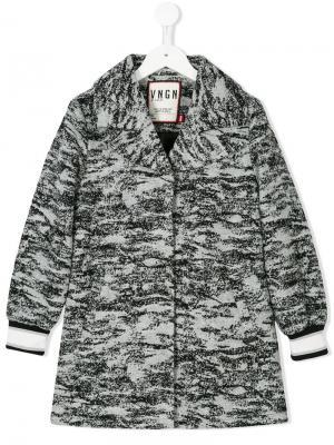 Пальто с узором Vingino. Цвет: черный