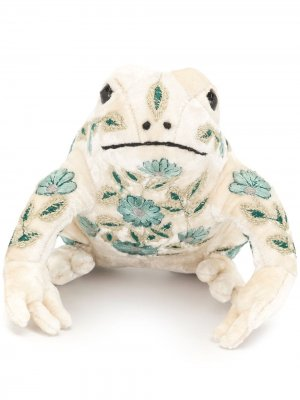 Мягкая игрушка в виде лягушки с вышивкой Anke Drechsel. Цвет: белый