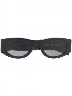 Солнцезащитные очки Mastermindy в овальной оправе Thierry Lasry. Цвет: черный