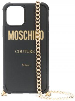 Чехол для iPhone 11 Pro с цепочкой Moschino. Цвет: черный