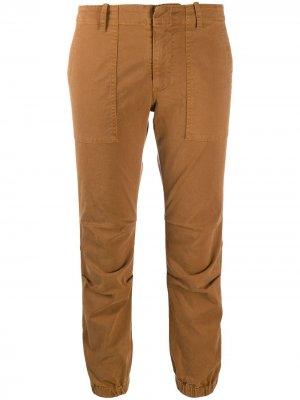 Укороченные брюки карго Nili Lotan. Цвет: коричневый