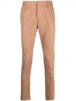 Узкие брюки чинос Dondup. Цвет: оранжевый