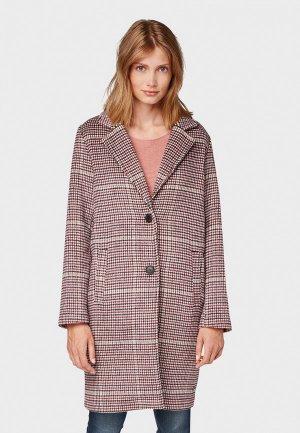 Пальто Tom Tailor. Цвет: розовый