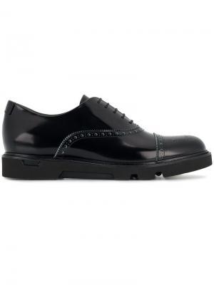 Броги на шнуровке Emporio Armani. Цвет: черный