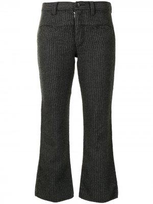 Укороченные брюки в тонкую полоску Junya Watanabe Comme des Garçons Pre-Owned. Цвет: серый