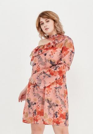 Платье Lost Ink Plus. Цвет: оранжевый