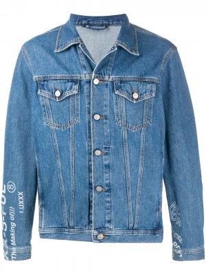 Джинсовая куртка Nhill-Sp2 с принтом Diesel. Цвет: синий