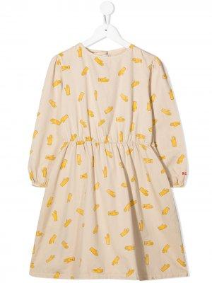 Платье с принтом Bobo Choses. Цвет: нейтральные цвета