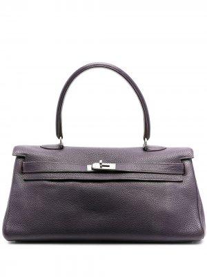 Сумка Kelly 2009-го года Hermès. Цвет: фиолетовый