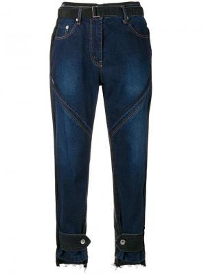 Зауженные джинсы с высокой талией Sacai. Цвет: синий