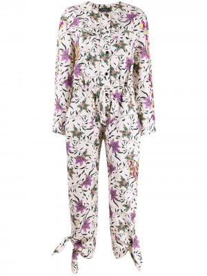 Комбинезон с длинными рукавами и цветочным принтом Isabel Marant. Цвет: нейтральные цвета