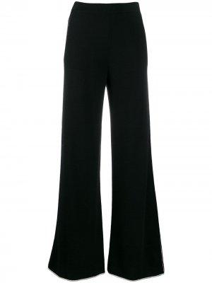 Кашемировые расклешенные брюки Jil Sander. Цвет: черный